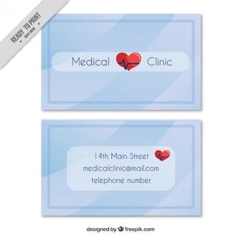Tarjeta sencilla para clínica
