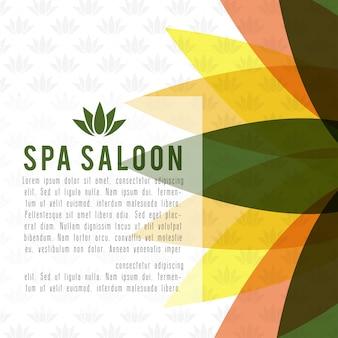 Tarjeta de spa y belleza con vector de diseño elegent