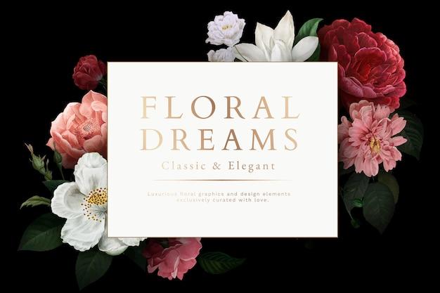 Tarjeta de sueños florales