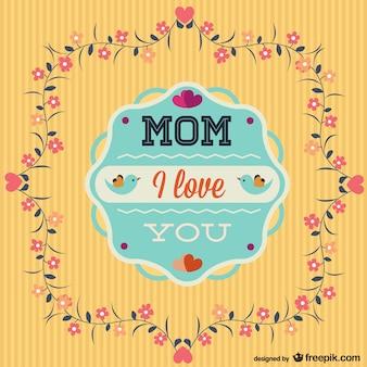 Tarjeta te quiero mamá