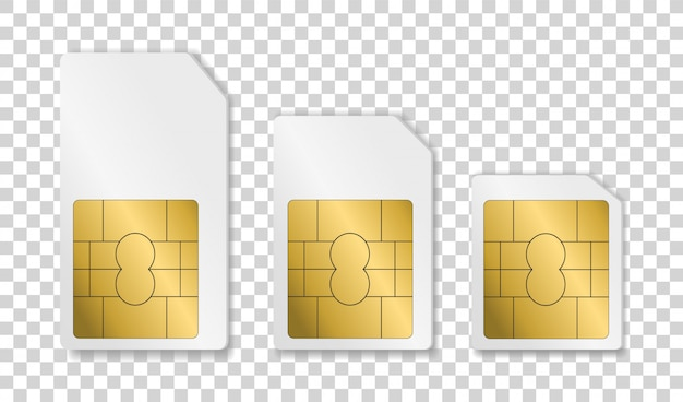 Tarjeta de telefonía móvil. tarjeta sim para diferentes teléfonos.