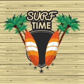 Tarjeta de tiempo de surf