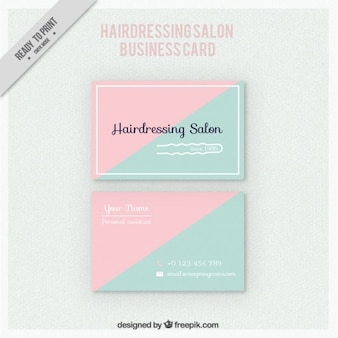 Tarjeta de  de triángulos de salón de peluquería