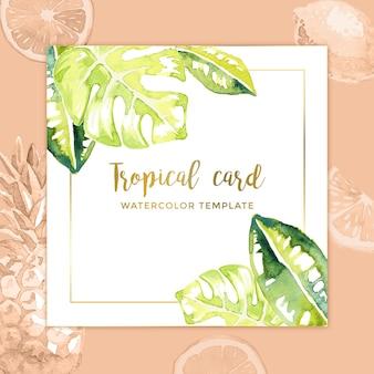 Tarjeta tropical