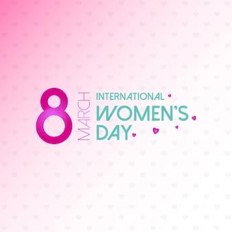 Tarjeta typogprahic día de la mujer con vector de fondo rosa