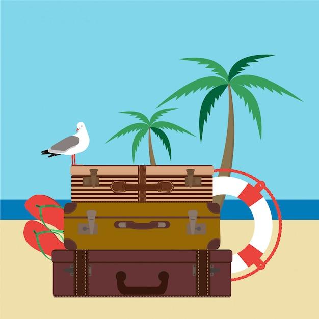 Tarjeta de vacaciones de verano.
