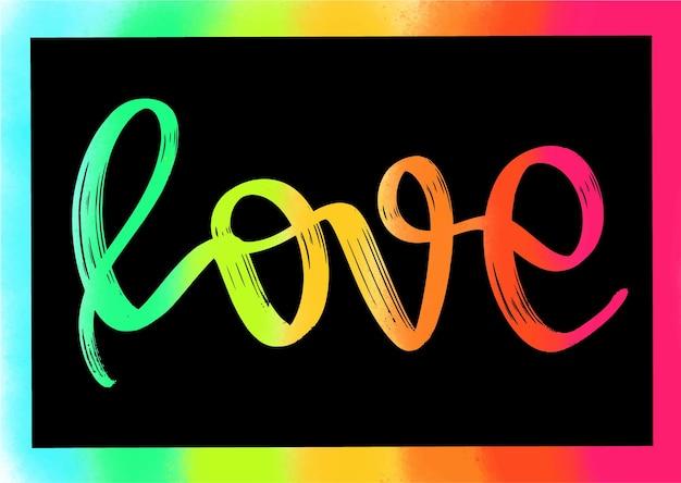 Tarjeta de vector de amor muy romántico para el día de san valentín