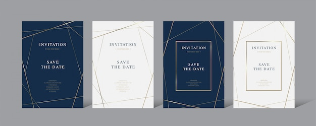 Tarjeta de vector de invitación de lujo vintage