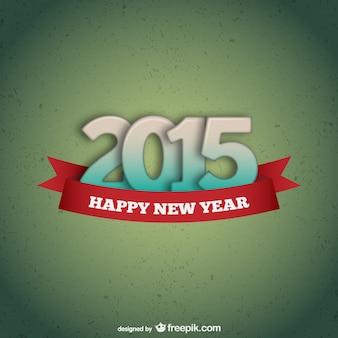 Tarjeta vectorial de feliz 2015