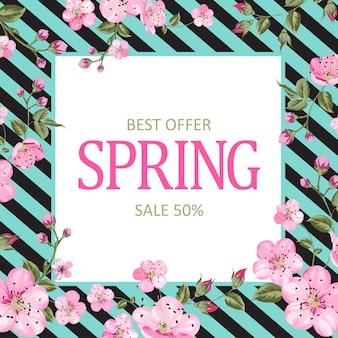 Tarjeta de venta de primavera