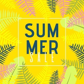 Tarjeta de ventas de verano