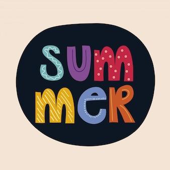 Tarjeta de verano de letras