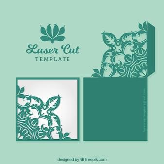 Tarjeta verde ornamental