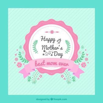 Tarjeta vintage de feliz día de la madre