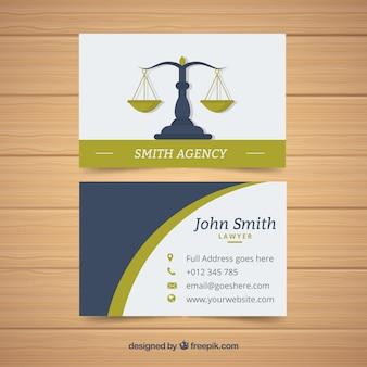 Tarjeta de visita de abogado