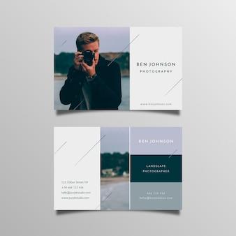 Tarjeta de visita abstracta con foto