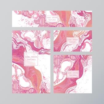 Tarjeta de visita abstracta de mármol