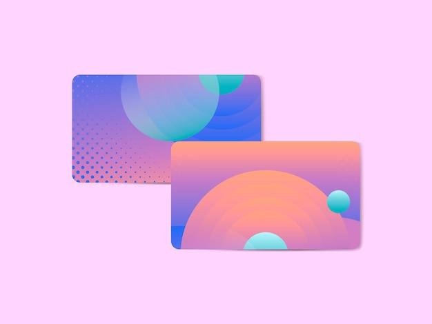 Tarjeta de visita abstracta vibrante del diseño