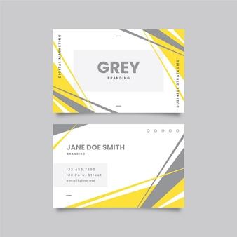 Tarjeta de visita amarilla y gris
