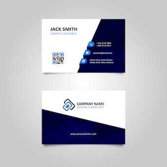 Tarjeta de visita azul abstracta