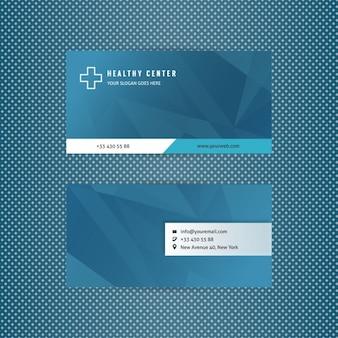 Tarjeta de visita azul de centro de salud