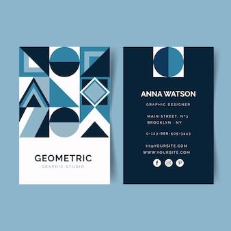 Tarjeta de visita azul clásica abstracta de plantilla