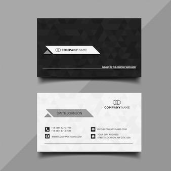 Tarjeta de visita en blanco y negro