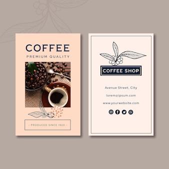 Tarjeta de visita de café de calidad premium vertical