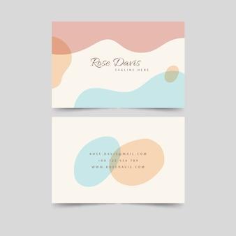 Tarjeta de visita en colores pastel efecto líquido