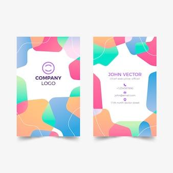 Tarjeta de visita colorida abstracta