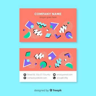 Tarjeta de visita colorida de memphis