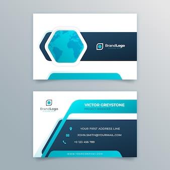 Tarjeta de visita comercial general de doble cara Vector Premium