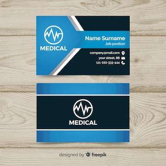 Tarjeta de visita con concepto médico en estilo profesional