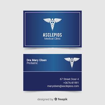 Tarjeta de visita con concepto médico