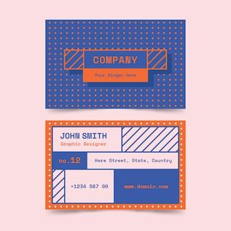 Tarjeta de visita creativa colorida del diseñador gráfico
