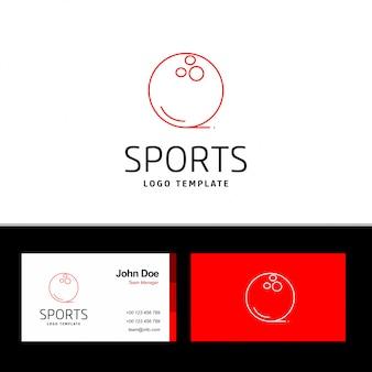 Tarjeta de visita de deportes