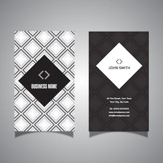 Tarjeta de visita con diseño de diamante.