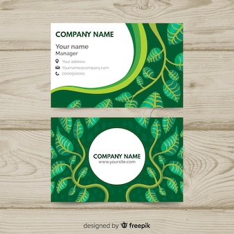 Tarjeta de visita con diseño de naturaleza