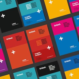 Tarjeta de visita divertida del diseñador gráfico de la plantilla