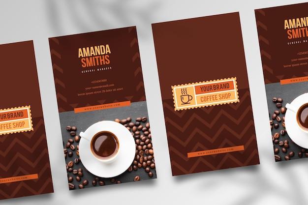 Tarjeta de visita de doble cara café v