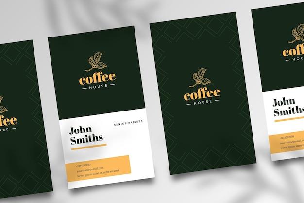 Tarjeta de visita de doble cara de café vector gratuito