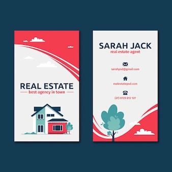 Tarjeta de visita de doble cara inmobiliaria.
