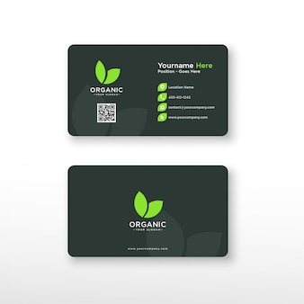 Tarjeta de visita ecológica verde