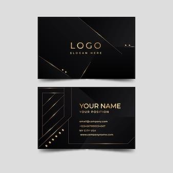 Tarjeta de visita elegante de diseño dorado de lujo