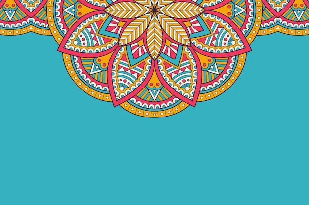 Tarjeta de visita. elementos decorativos vintage. tarjetas de visita florales ornamentales, patrón oriental, ilustración