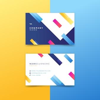 Tarjeta de visita de empresa con diseño abstracto