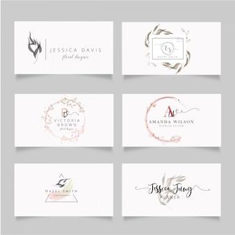 Tarjeta de visita femenina y minimalista