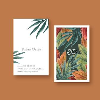 Tarjeta de visita floral