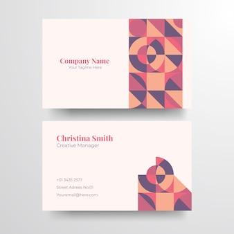 Tarjeta de visita geométrica elegent. elegante tarjeta de visita dorada minimalista.