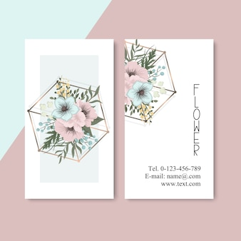 Tarjeta de visita con hermosas flores